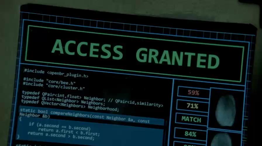 В сериале «Революция» Джей-Джей Абрамса и Эрика Крипке показан код открытой программы для работы с биометрическими данными.