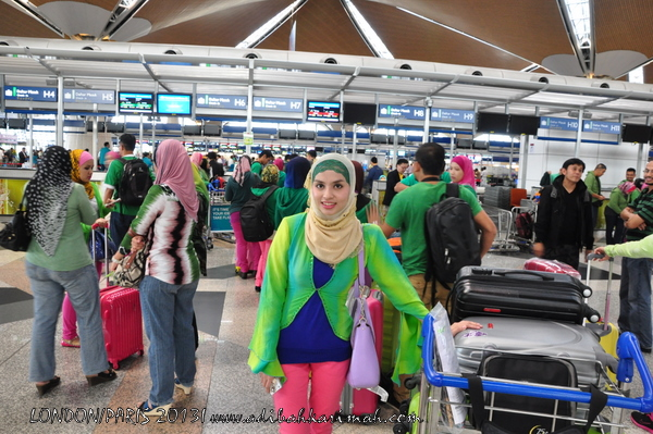 Adibah Karimah at KLIA going to London for free
