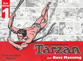 Tarzán de Edgar Rice Burroughs con dibujos de Russ Manning, edita Manuel Caldas
