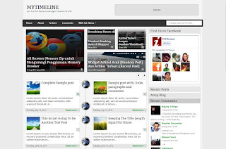 My TimeLine Facebook Inspired Responsive Blogger Template
