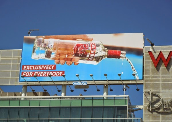 Pouring Smirnoff Vodka Exclusively for everybody billboard