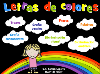 LETRAS DE COLORES