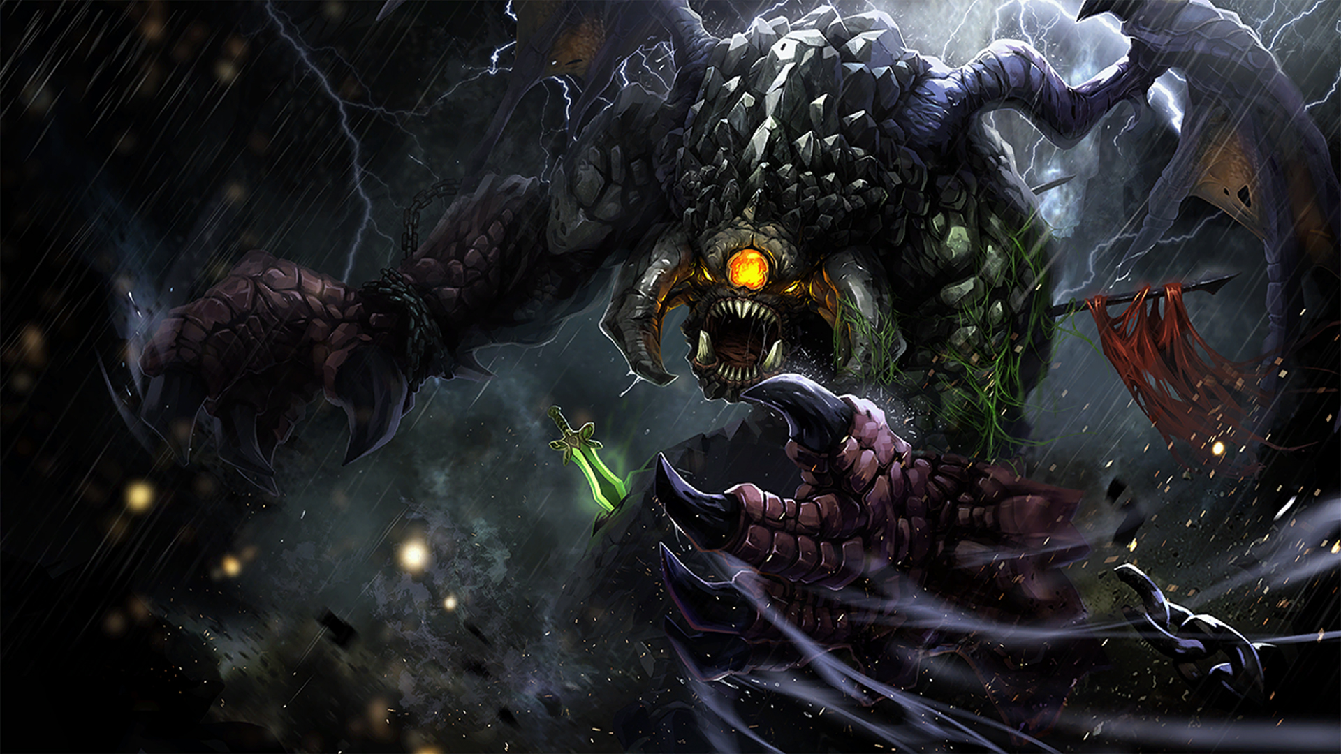 dota 2 roshan epic wallpaper hd