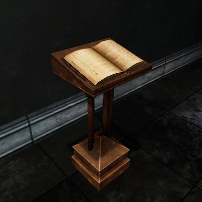 Arcane Book and Podium