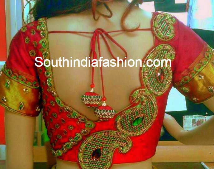 blouse neck designs for wedding silk sarees