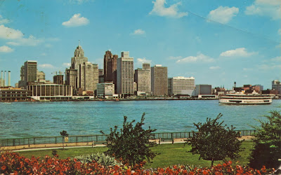 Detroit River Skyline, USA