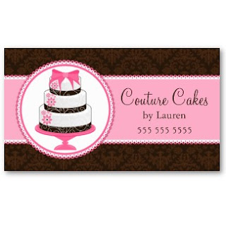 Business card showcase by socialite designs gourmet cake bakery cake on a stand and whimsical lace elements and damask background these business cards are double sided and the template text is easily replaced accmission Images