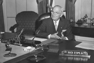 Harry Truman says 'The Buck Stops Here'