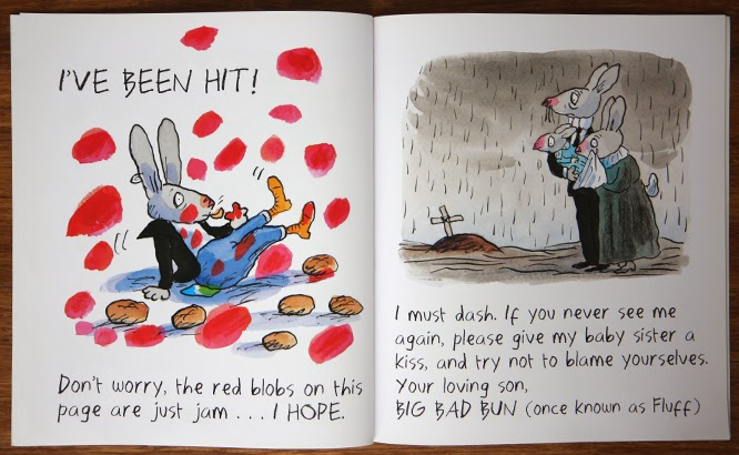 Something we are reading, Big Bad Bun by Jeanne Willis and Tony Ross - by Alexis at somethingimade.co.uk