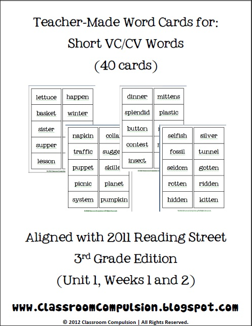 Worksheets Vccv Pattern Worksheets classroom freebies too short vccv spelling word cards cards