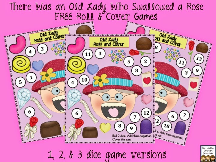 https://www.teacherspayteachers.com/Product/Old-Lady-Swallowed-a-Rose-3-Roll-and-Cover-Games-FREE-1689504