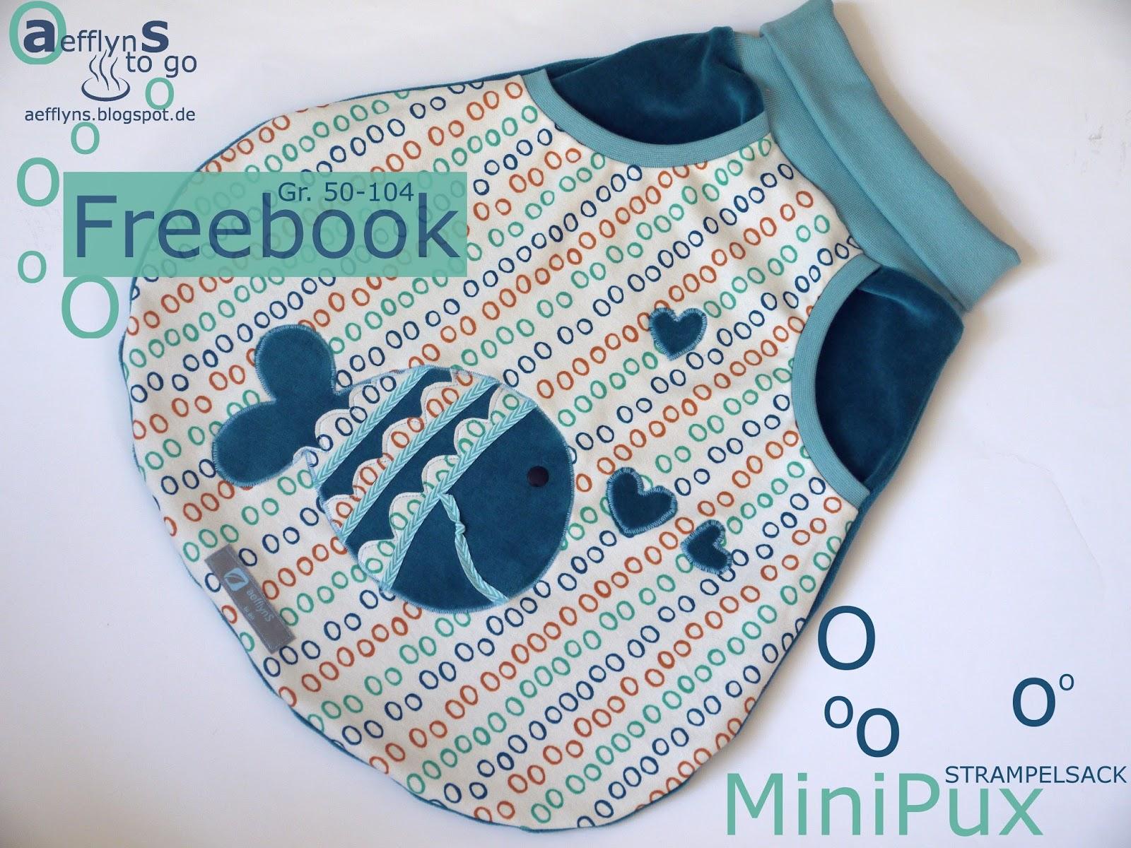 aefflynS - to go: FREEBOOK \'MiniPux\' - ein stylischer Strampelsack!