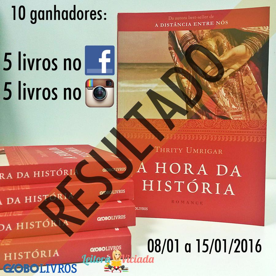 RESULTADO] SORTEIO de 10 EXEMPLARES de A Hora da História (Thrity ...