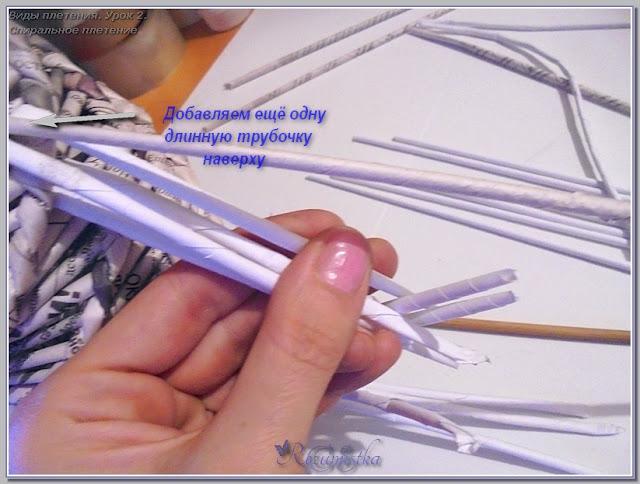 соединение концов ручки