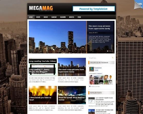 MegaMag Blogger Template