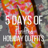 5 Days of Thrifted Holiday Outfits