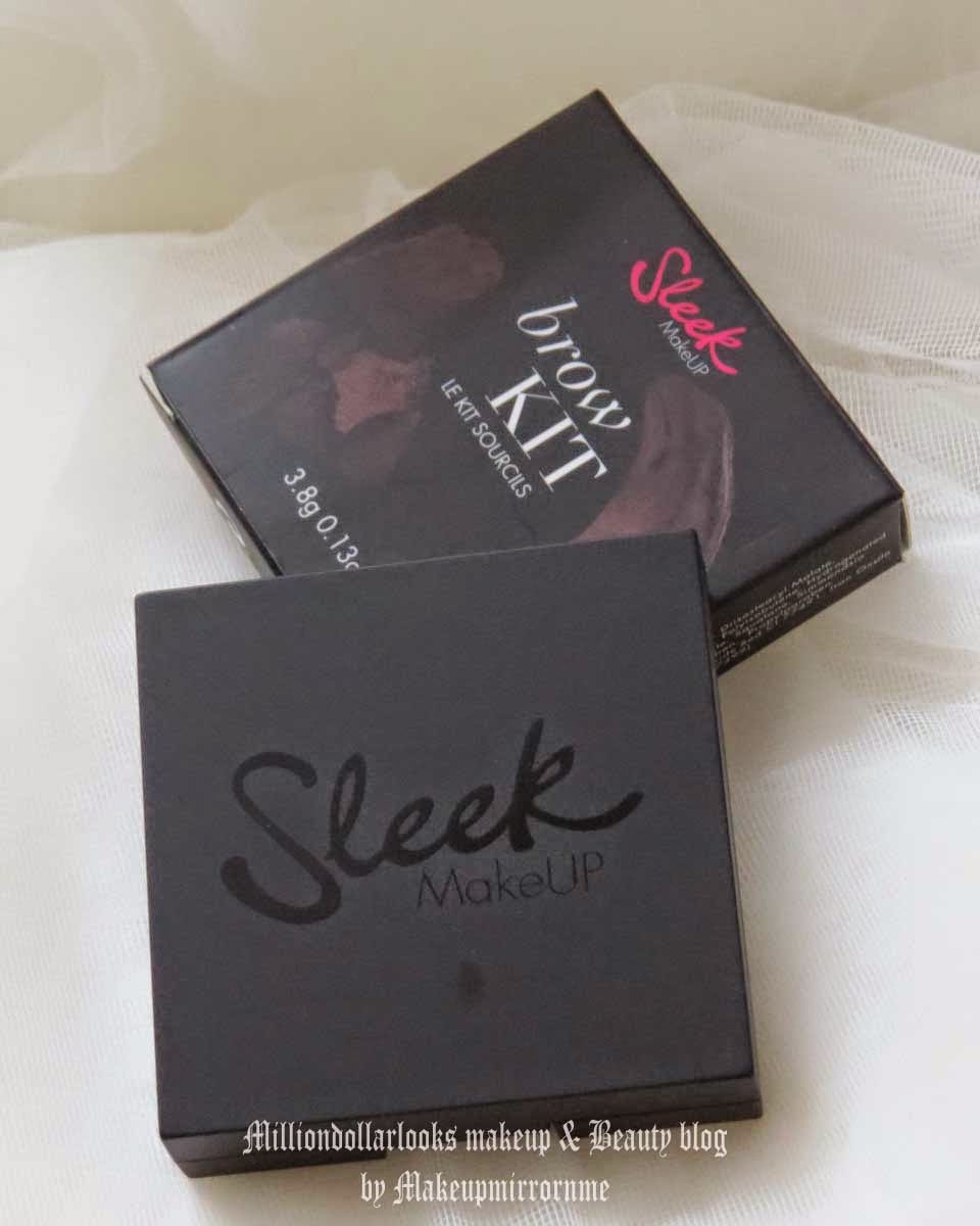 Sleek Makeup Brow Kit Extra Dark 819 Review, Pictures & How to use it, Where to buy sleek makeup brow kit in India and pricing in India, Sleek makeup review India, Indian makeup bloggers, Milliondollarlooks makeup and beauty blogger, Eyebrow tutotial with pictures, How to fill in eyebrows, Sleek makeup eye makeup products and review, Eyebrow kit, Affordable eyebrow kit, UK makeup brands in India