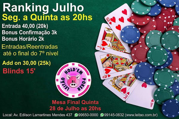 RANKING JUlHO / 2016