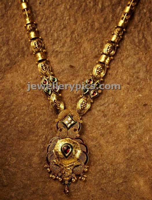 antique haram designs in lalitha jewellery shop