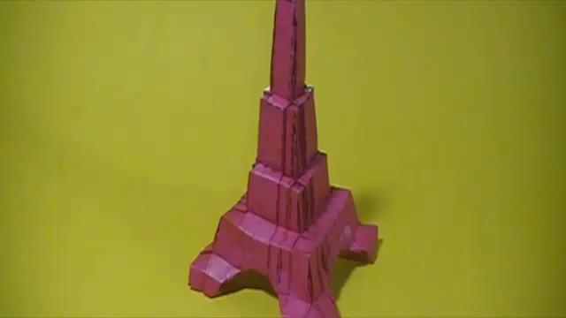 origami maniacs origami eiffel tower by robin glynn