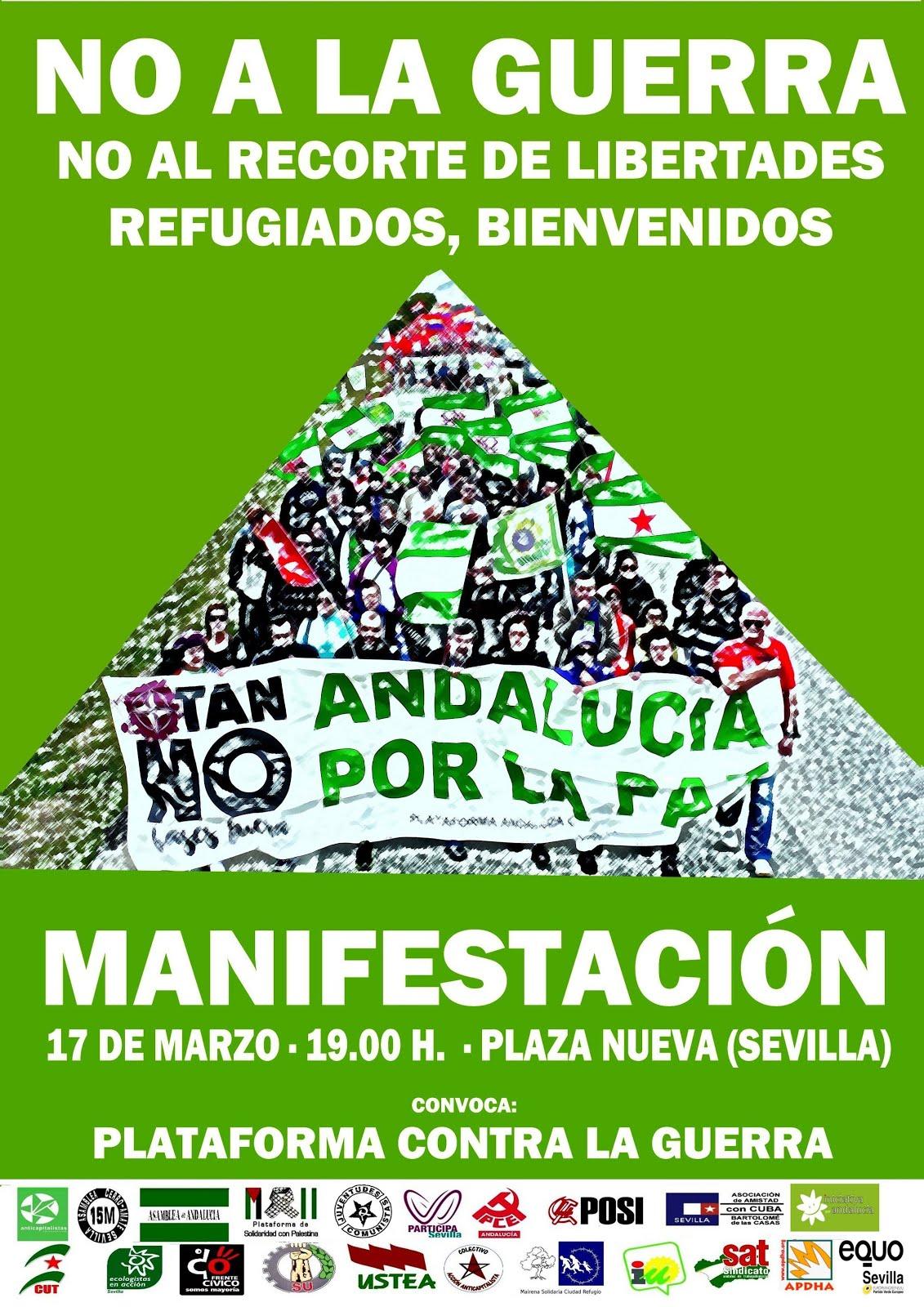 Manifestación 17 marzo: Andalucía por la paz