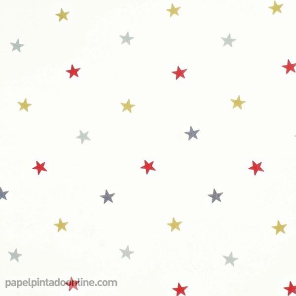 Papel pintado estrellas online papeles pintados y telas - Papeles pintados vintage ...