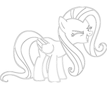 #4 Fluttershy Coloring Page