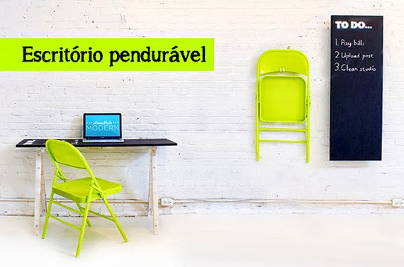 Escritório faça-você mesmo para espaços pequenos