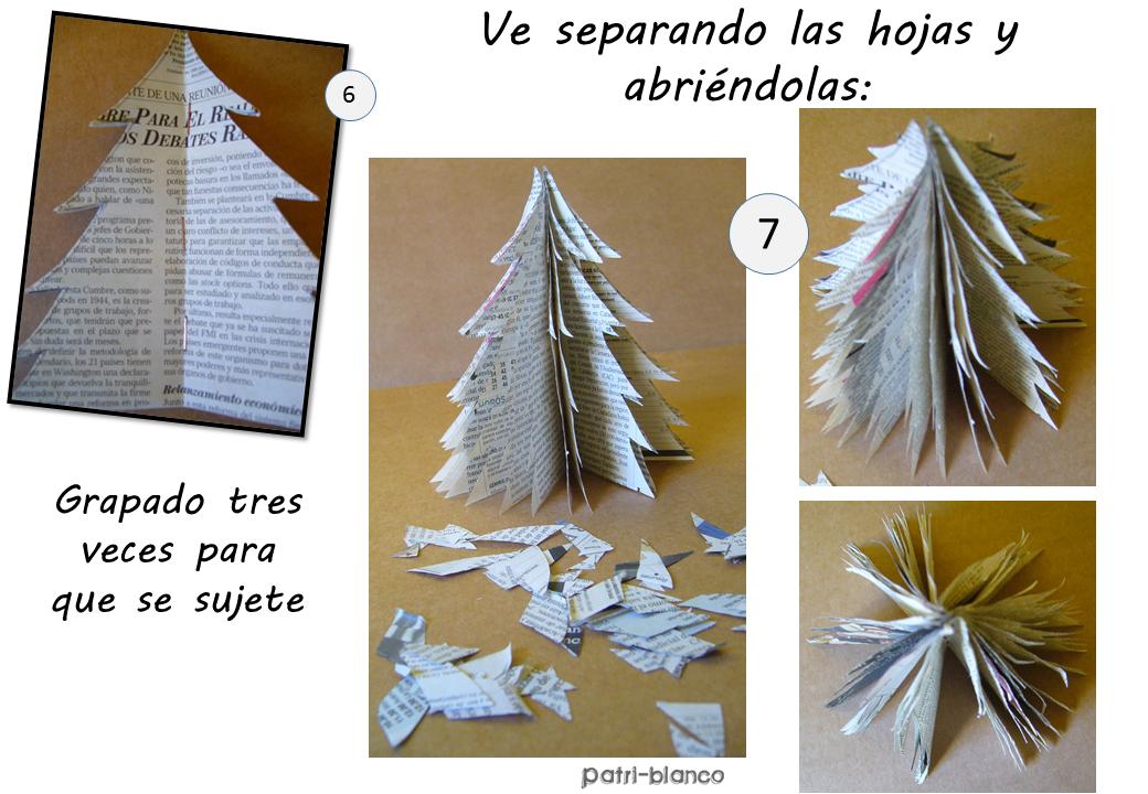 Arbol de papel paso dos