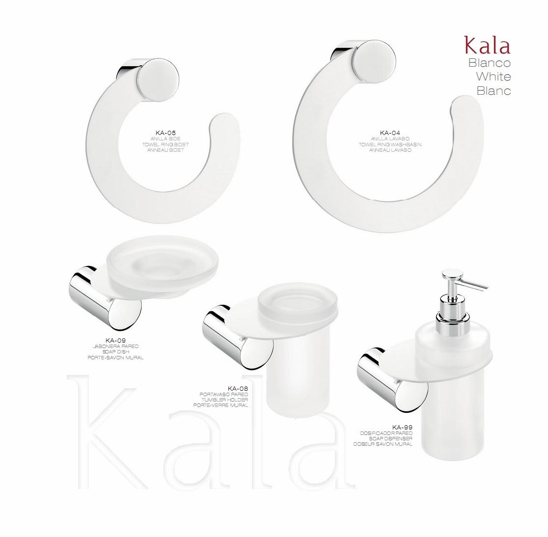 Accesorios de ba o kala color tu cocina y ba o for Accesorios bano color blanco