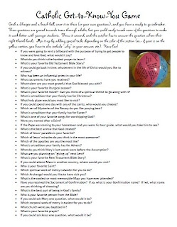 catholic get to know you JPGQuestions List For Getting To Know You