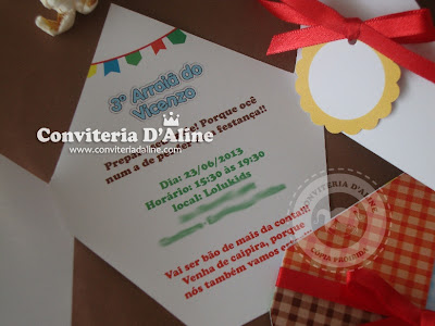 convite festa junina balão são joão