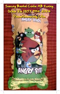Sarung bantal angry bird murah kuning hijau distro gorden semarang