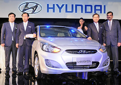 Picture 1 The all new Hyundai Verna released in Indian auto market