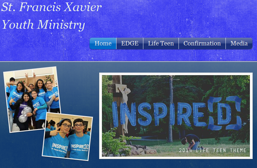Updated Youth Ministry Website