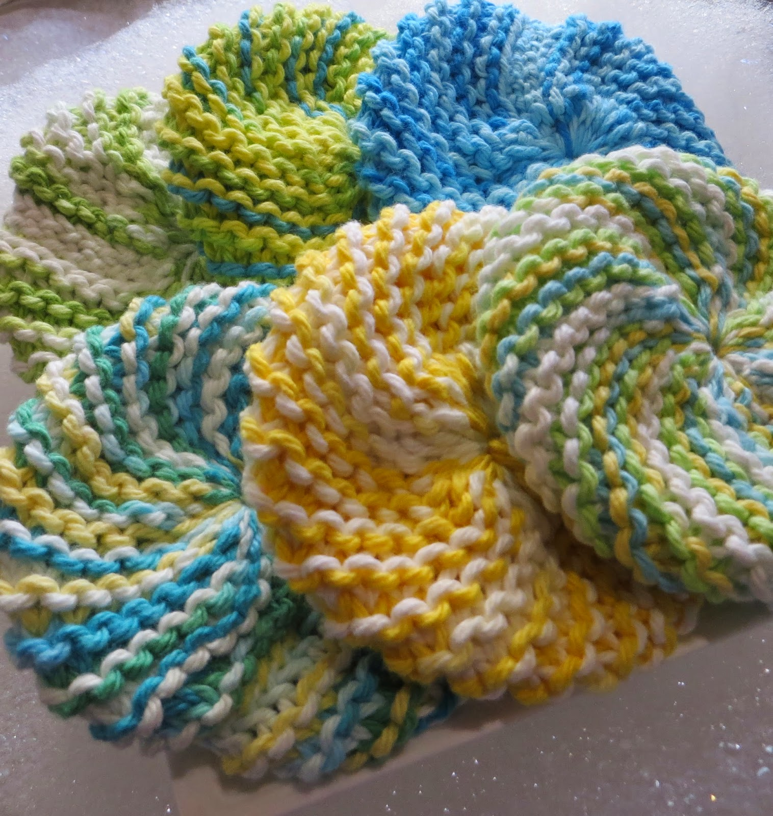 Crocheting Scrubbies : Knitted Scrubbies