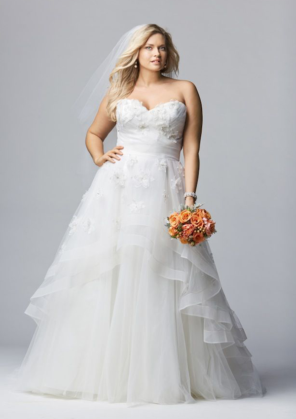 beauty plus size wedding dresses