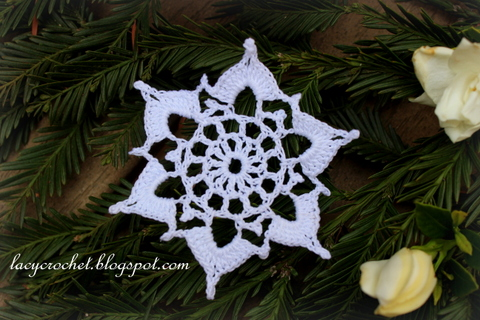 Lacy Crochet Simple Snowflake Easy Crochet Pattern