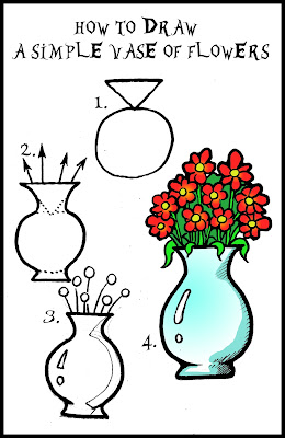 How To Draw A Vase Of Flowers Step By Step Daryl Hobson
