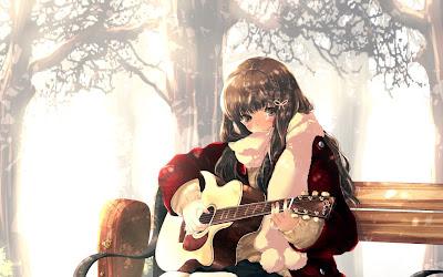 Wallpaper para tablet Anime violão