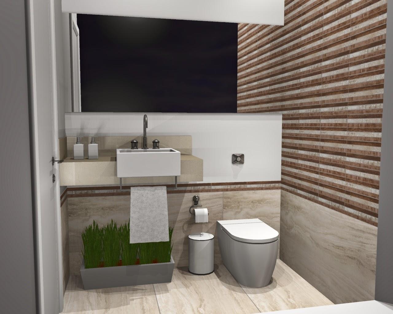 BANHEIRO 7: Na verdade lavabo de área gourmet. #614B3C 1280x1024 Banheiro Com Porcelanato Concreto