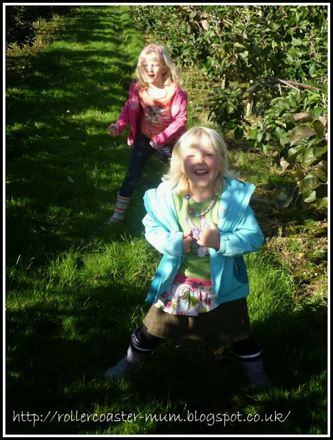 having fun apple picking Blackmoor estate