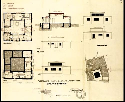 bau house da pompei alla haus am horn. Black Bedroom Furniture Sets. Home Design Ideas