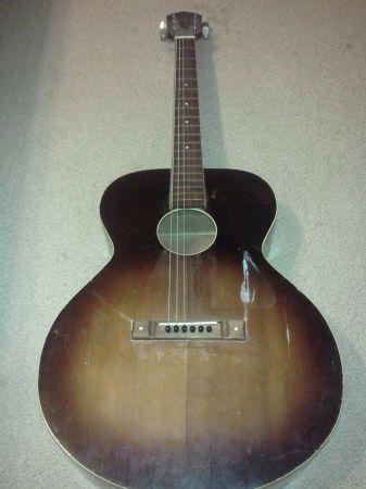 Craigslist vintage guitar hunt kay acoustic mini jumbo for Craigslist fishing equipment