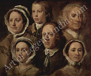 Hogarth's Servants, One of Hogarth's great informal portraits of the 1750s, this sympathetic study was probably painted in a single sitting, for the artists own pleasure.
