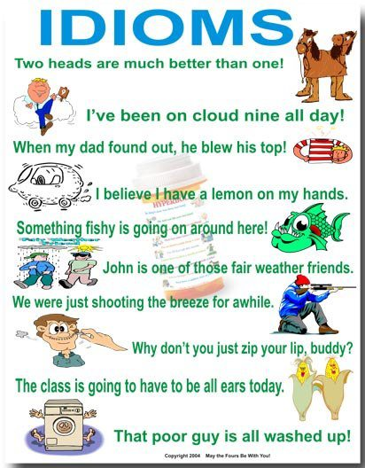 idioms essay As a foreign student learning english, comparison idioms are really a big problem for me as well as other learners there are over 3000 idioms in the dictionary, so understanding and memorizing all of them are a hard issue.