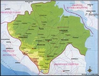 Peta Sumatera Selatan