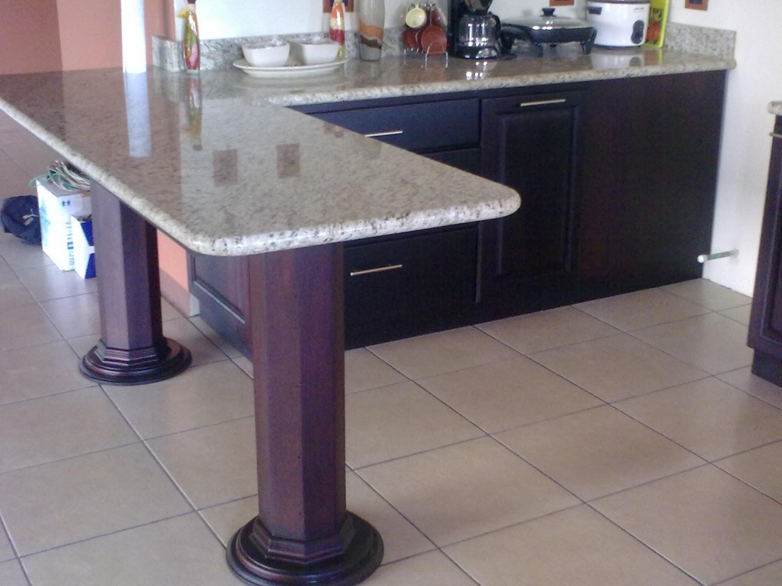 Idearte s a muebles de cocina sobres de granito natural for Muebles de cocina costa rica