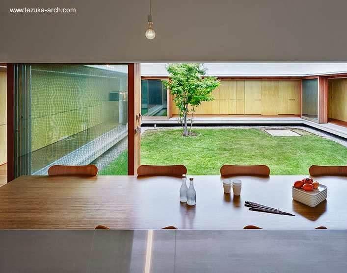 Arquitectura de casas moderna casa claustro sin columnas - Casas con jardin interior ...