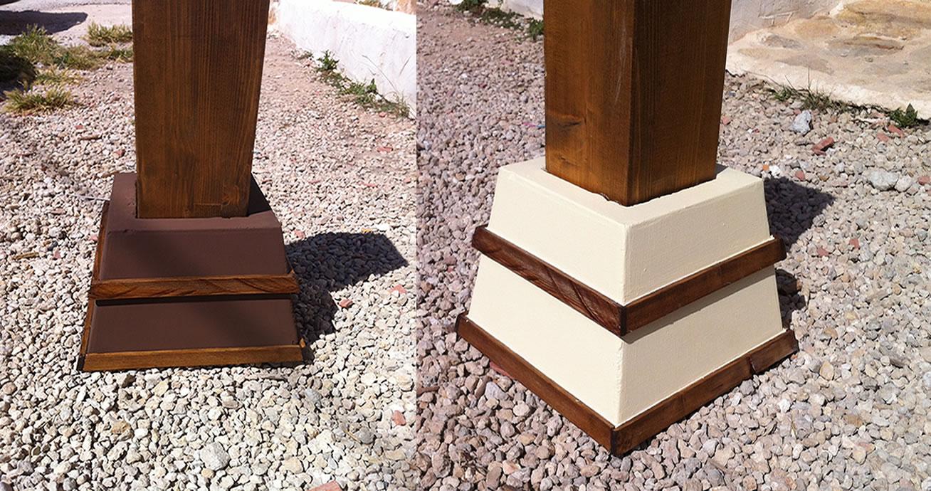 ofrecemos varios modelos para pilares de cm x cm cm x cm cm x cm con un cajeado de cm de profundidad para un fcil montaje y una mejor